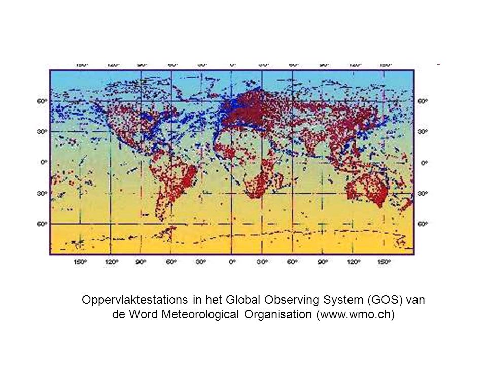 Observation components of the Global Observing System - Surface observations
