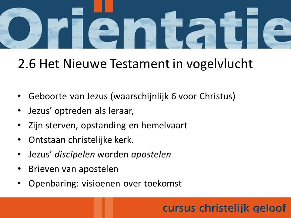 2.6 Het Nieuwe Testament in vogelvlucht