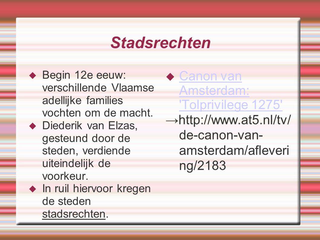 Stadsrechten Canon van Amsterdam: Tolprivilege 1275