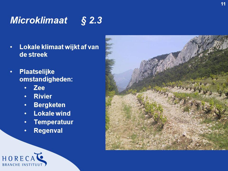 Microklimaat § 2.3 Lokale klimaat wijkt af van de streek