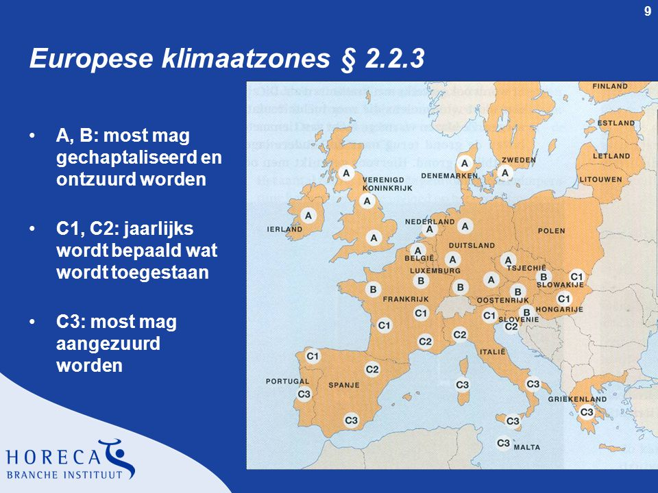 Europese klimaatzones § 2.2.3