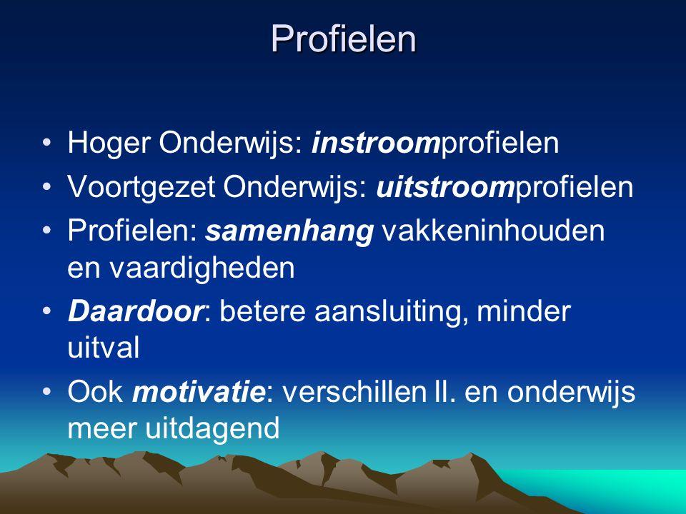 Profielen Hoger Onderwijs: instroomprofielen