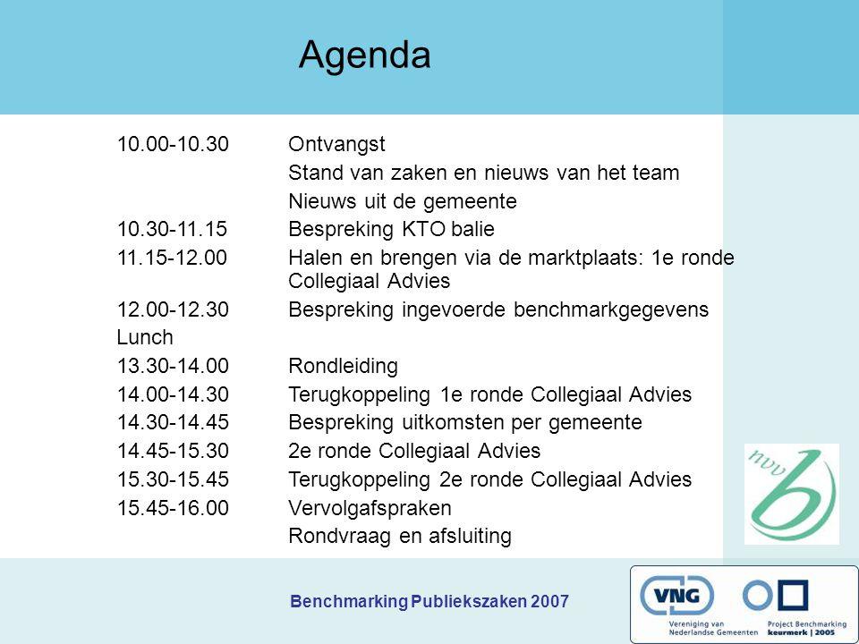 Agenda 10.00-10.30 Ontvangst Stand van zaken en nieuws van het team