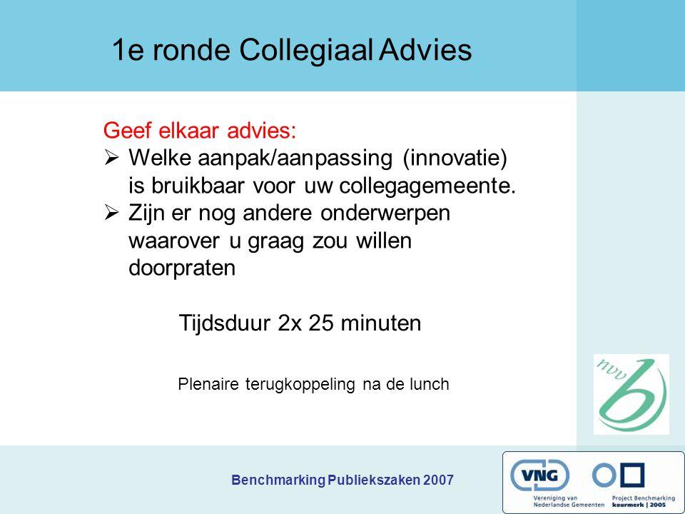 1e ronde Collegiaal Advies