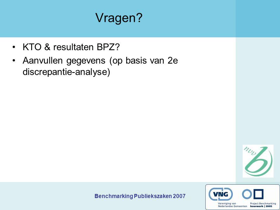 Vragen KTO & resultaten BPZ