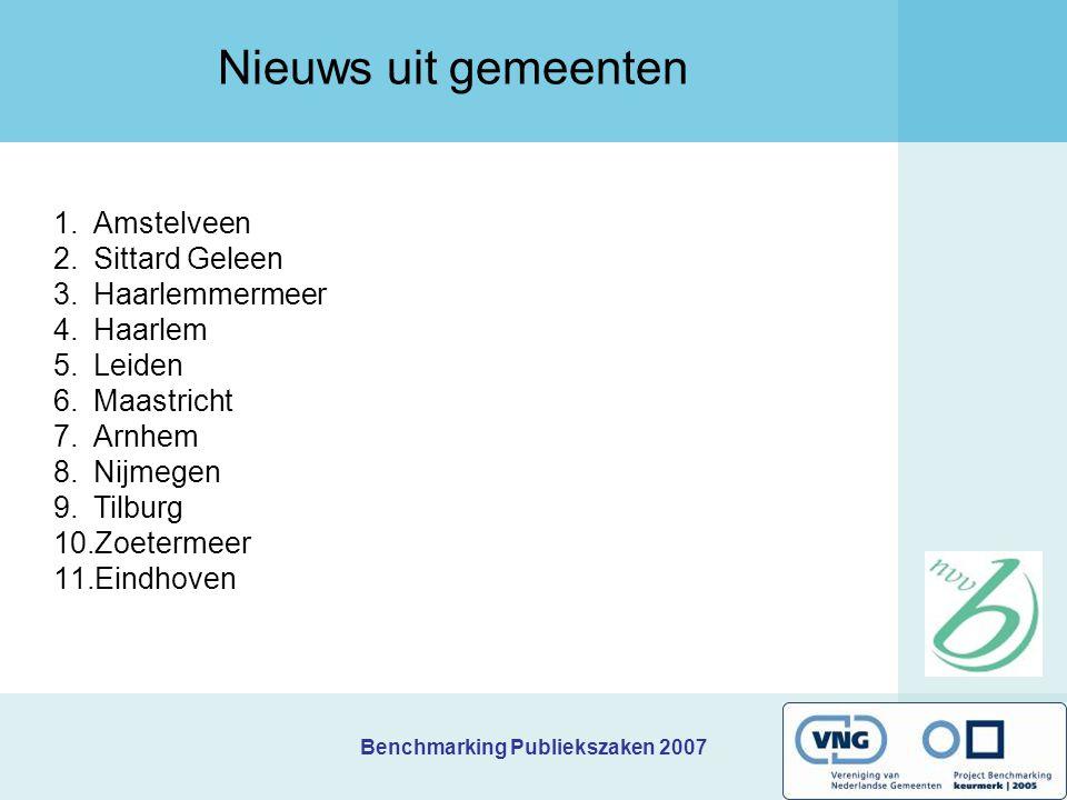 Nieuws uit gemeenten Amstelveen Sittard Geleen Haarlemmermeer Haarlem