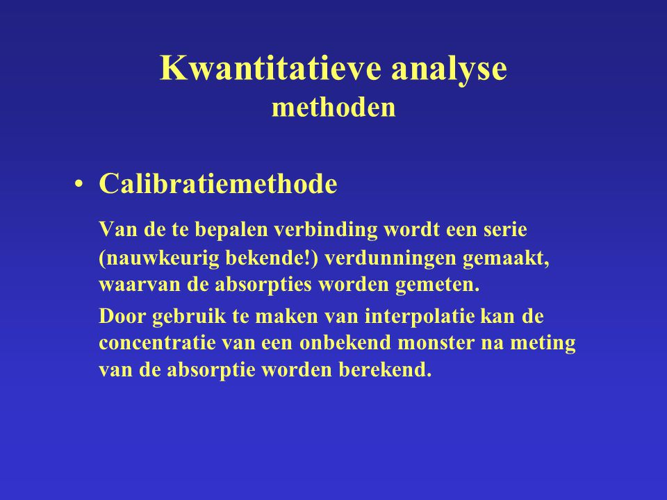 Kwantitatieve analyse methoden