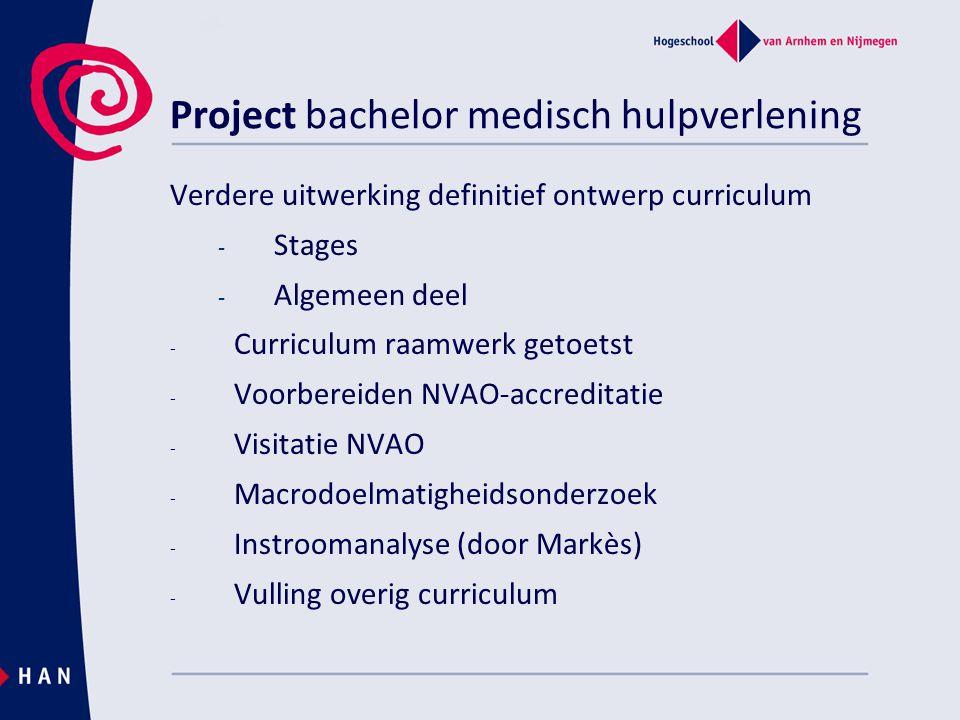 Project bachelor medisch hulpverlening