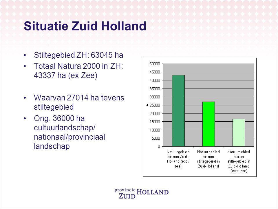 Situatie Zuid Holland Stiltegebied ZH: 63045 ha