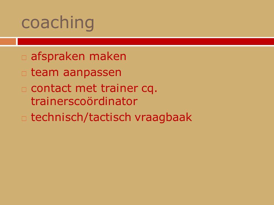 coaching afspraken maken team aanpassen