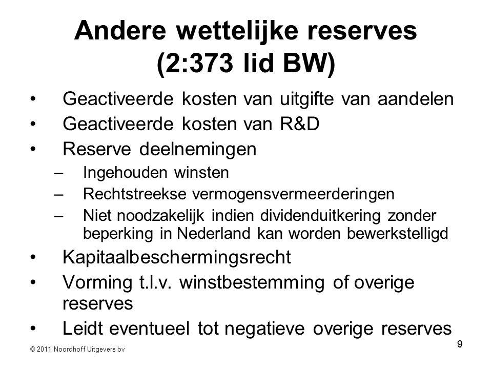 Andere wettelijke reserves (2:373 lid BW)