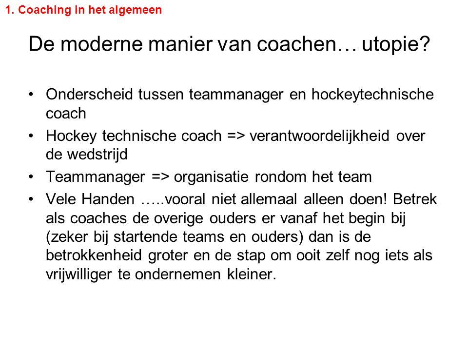 De moderne manier van coachen… utopie