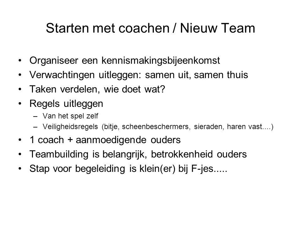 Starten met coachen / Nieuw Team