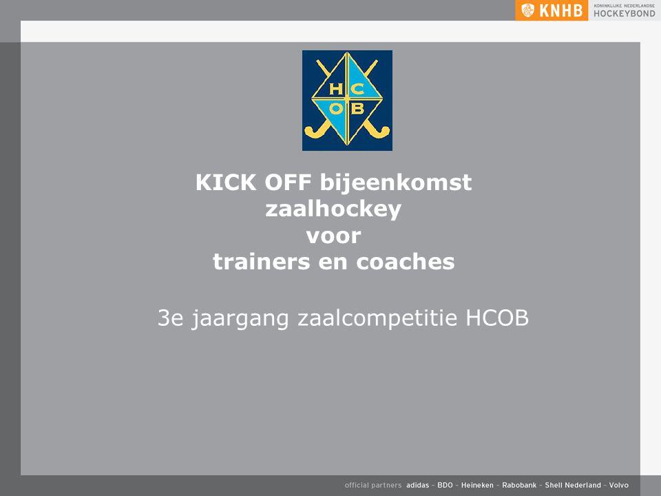 KICK OFF bijeenkomst zaalhockey voor trainers en coaches