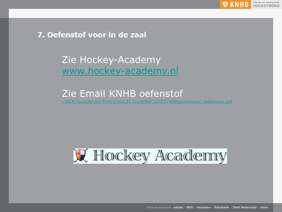Zie Email KNHB oefenstof
