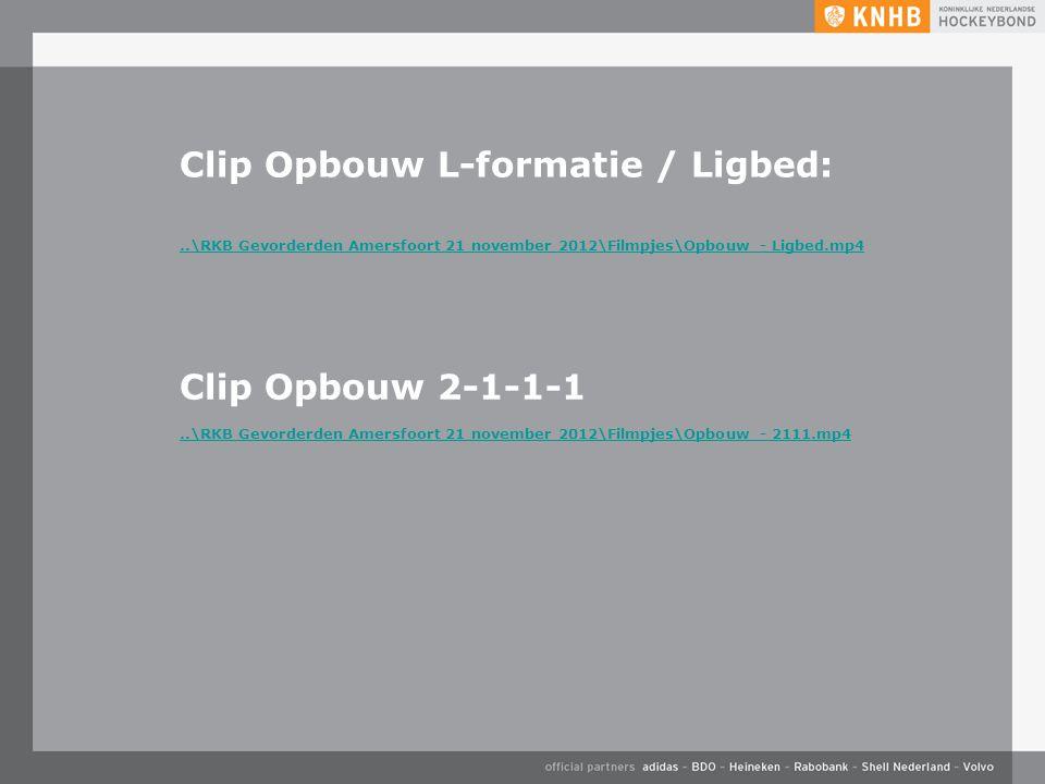 Clip Opbouw L-formatie / Ligbed: