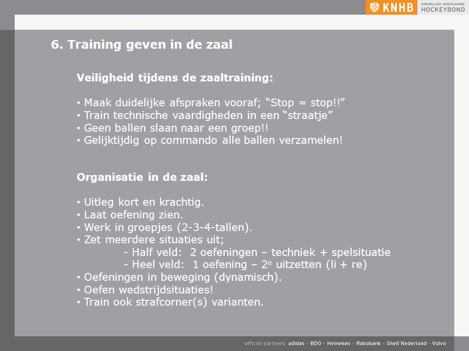 6. Training geven in de zaal