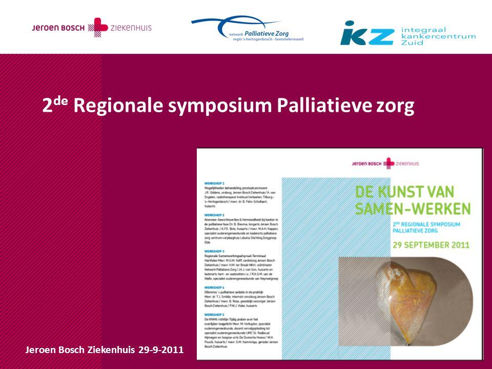 2de Regionale symposium Palliatieve zorg