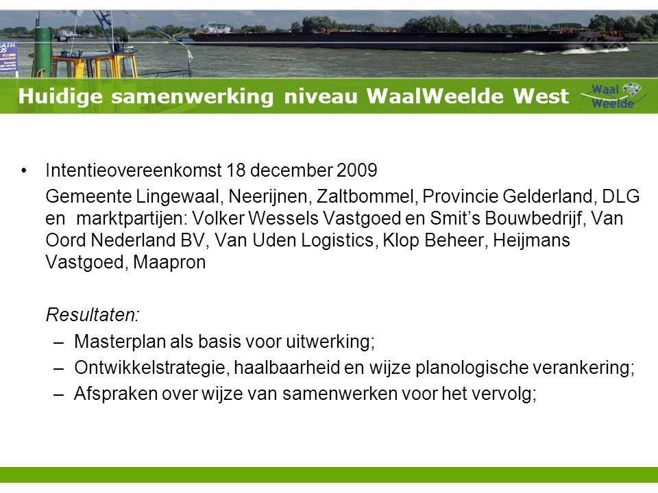Huidige samenwerking niveau WaalWeelde West
