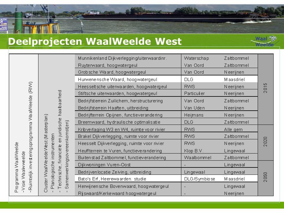 Deelprojecten WaalWeelde West