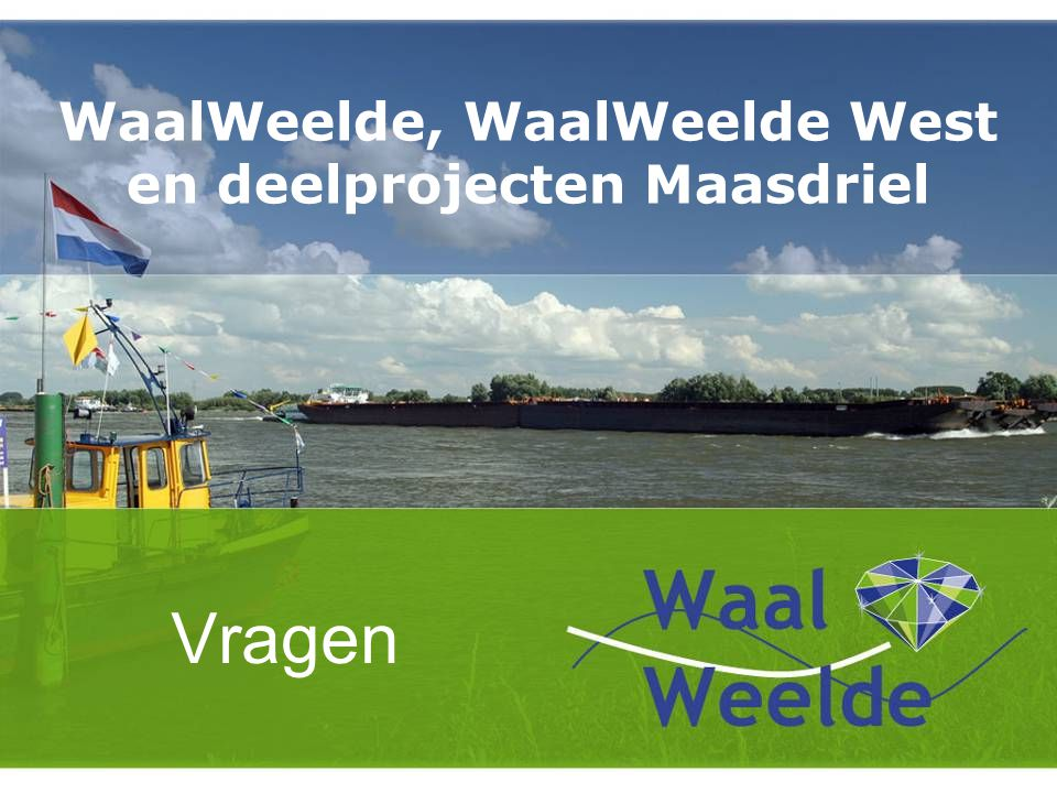 WaalWeelde, WaalWeelde West en deelprojecten Maasdriel