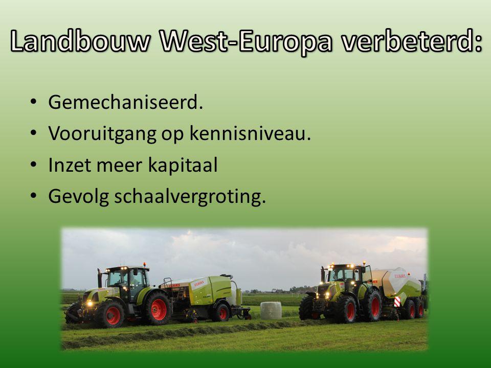 Landbouw West-Europa verbeterd: