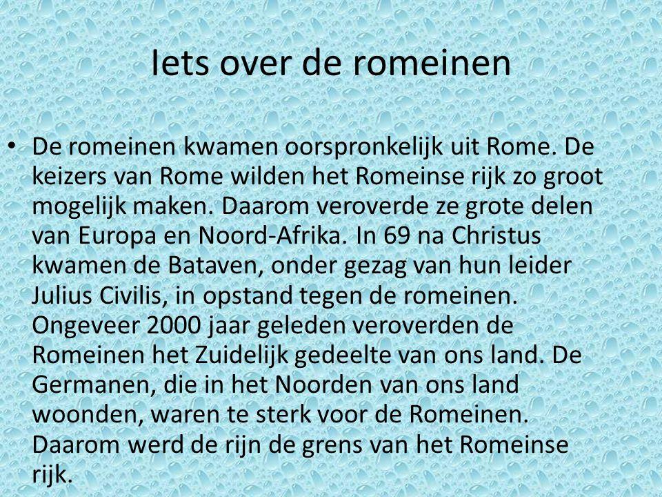 Iets over de romeinen