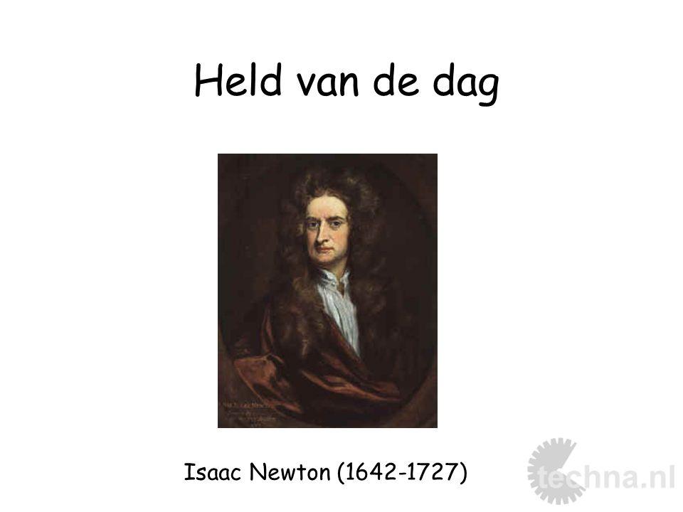 Held van de dag Isaac Newton (1642-1727)