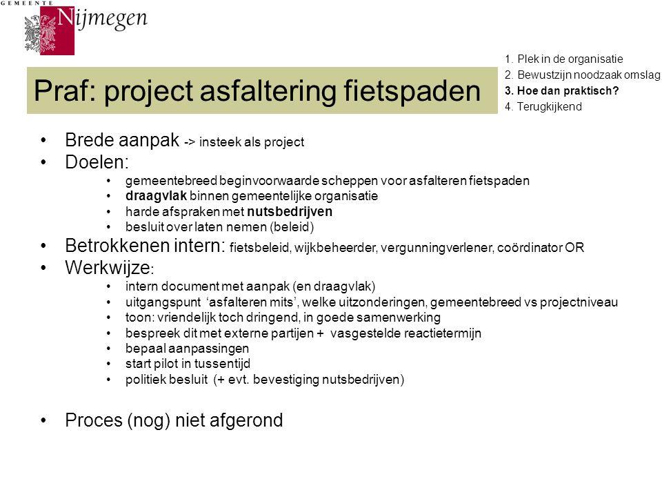 Praf: project asfaltering fietspaden
