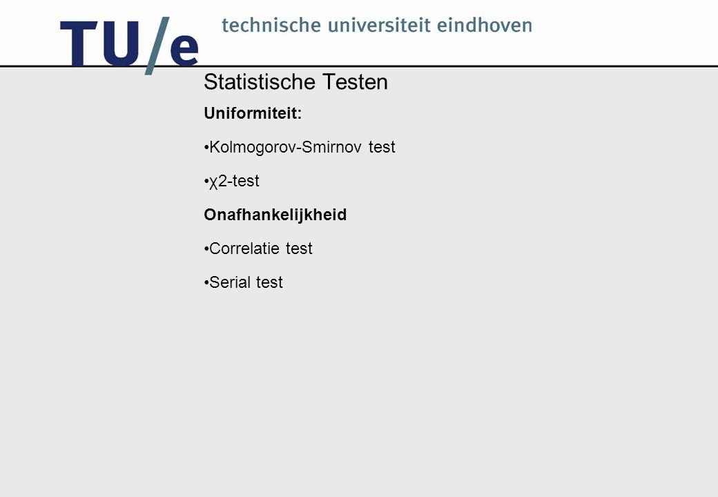 Statistische Testen Uniformiteit: Kolmogorov-Smirnov test χ2-test