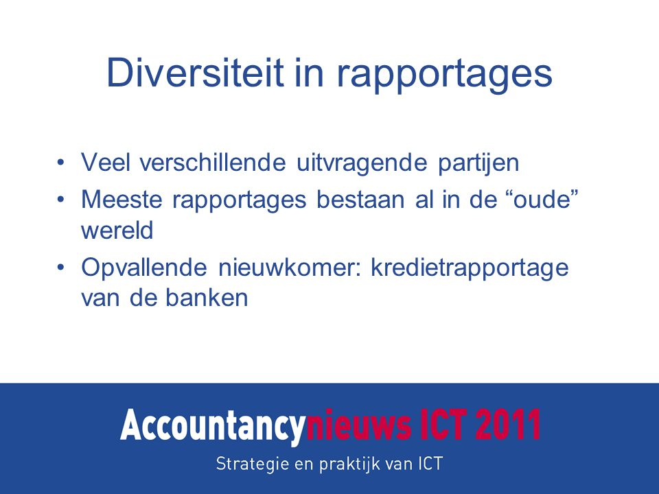 Diversiteit in rapportages