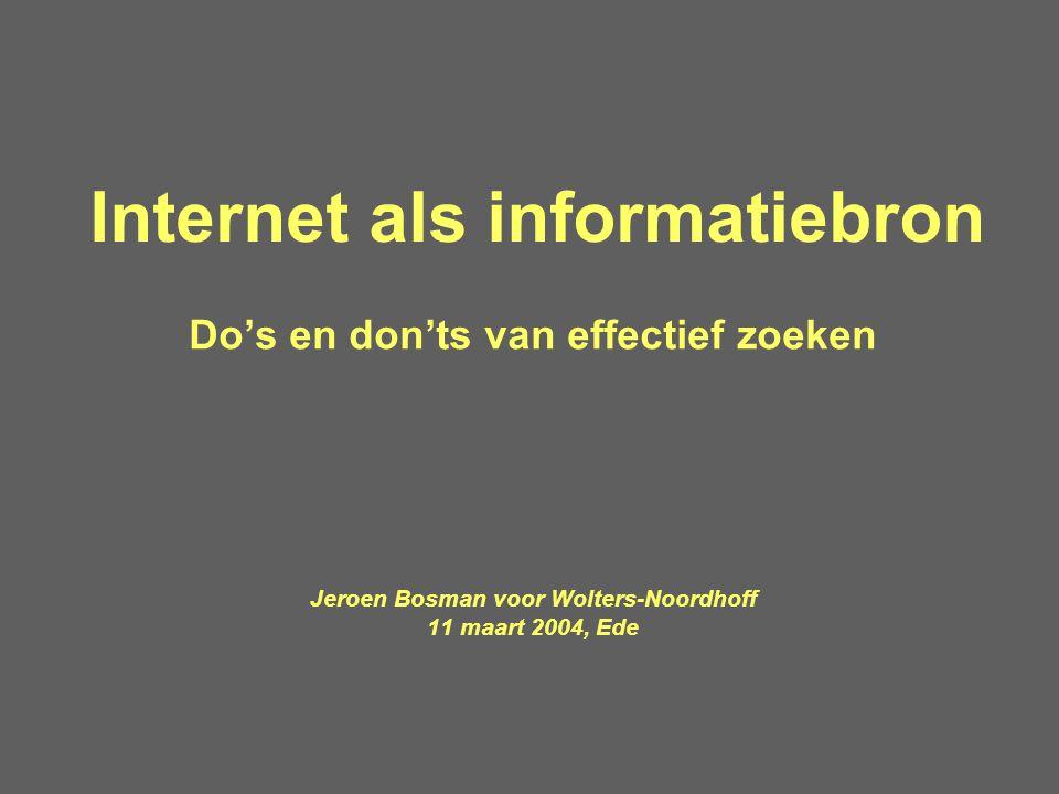 Internet als informatiebron