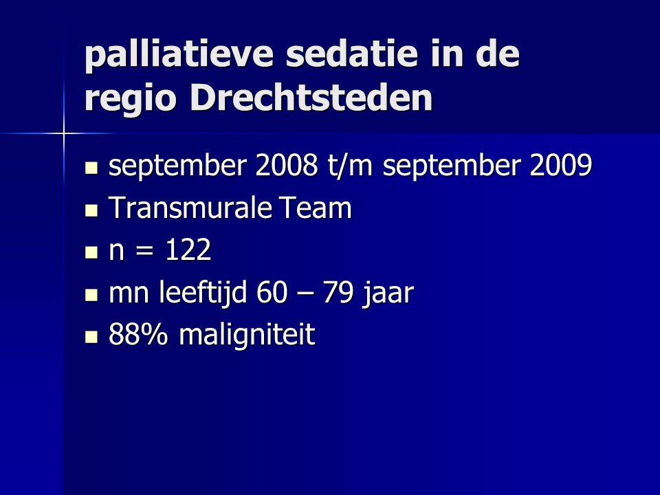 palliatieve sedatie in de regio Drechtsteden
