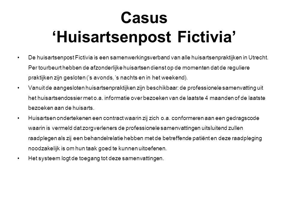 Casus 'Huisartsenpost Fictivia'