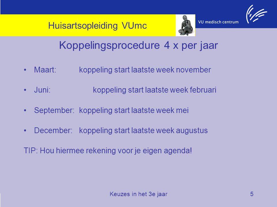 Koppelingsprocedure 4 x per jaar
