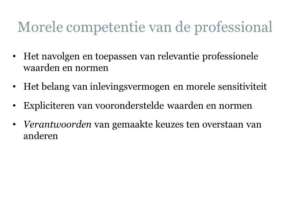 Morele competentie van de professional