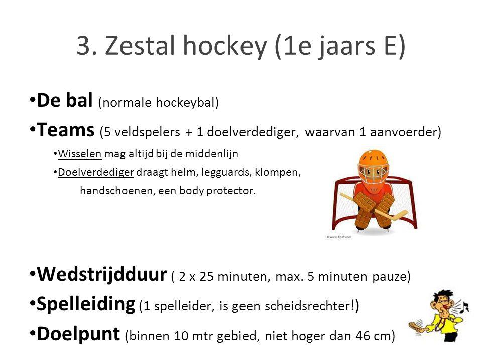 3. Zestal hockey (1e jaars E)