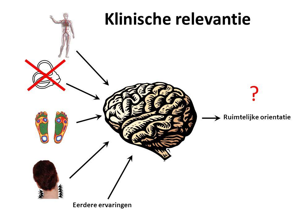 Klinische relevantie Ruimtelijke orientatie Eerdere ervaringen