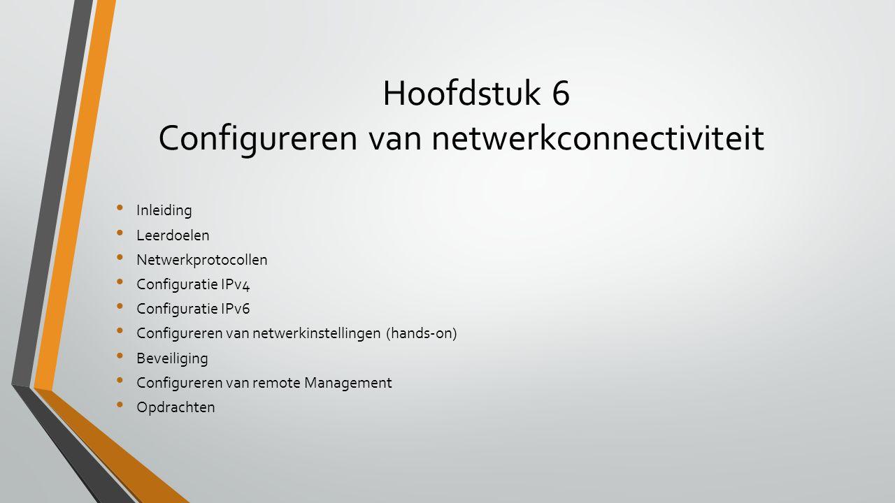 Hoofdstuk 6 Configureren van netwerkconnectiviteit