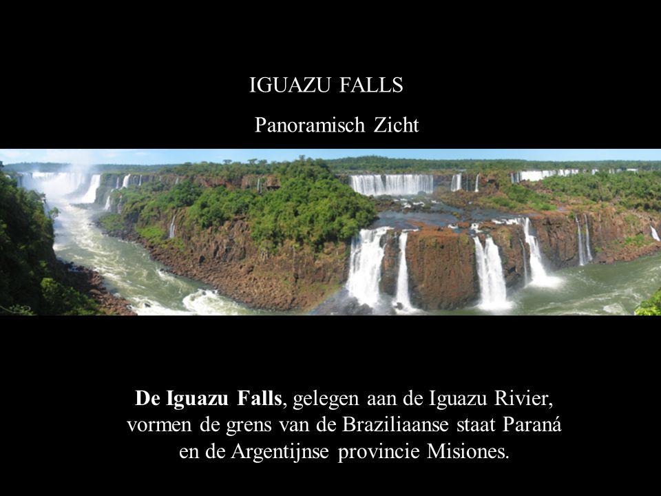 IGUAZU FALLS Panoramisch Zicht.