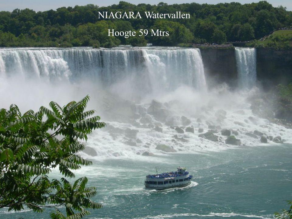 NIAGARA Watervallen Hoogte 59 Mtrs