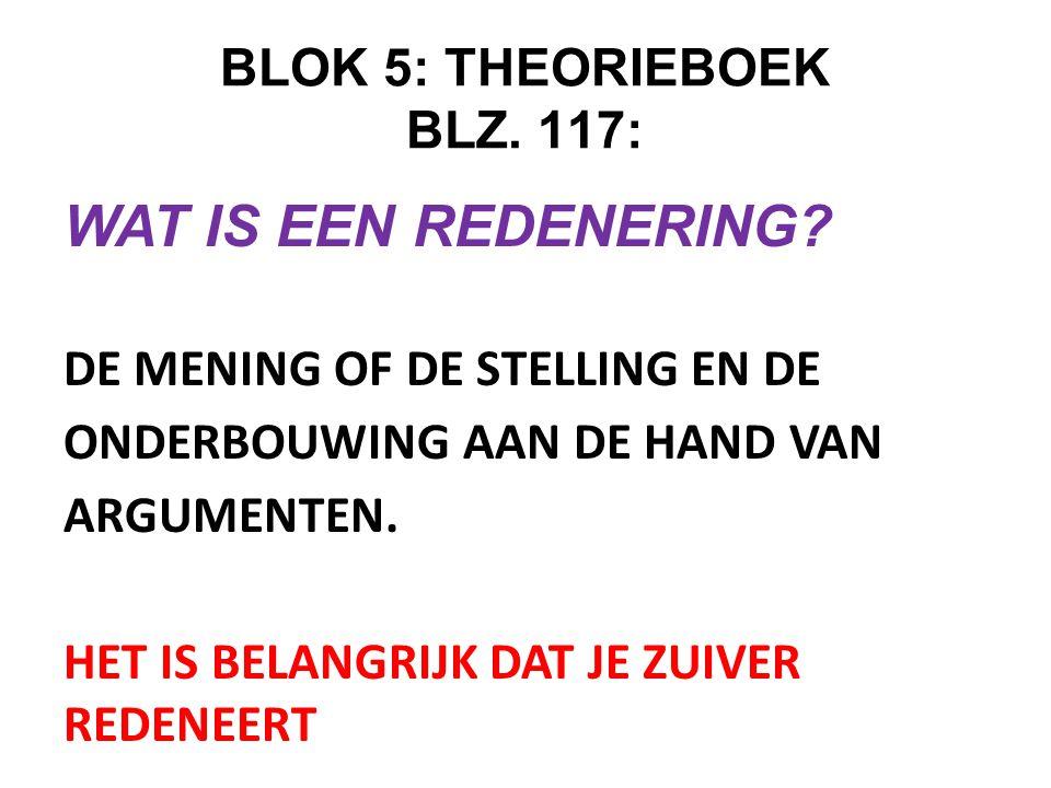 BLOK 5: THEORIEBOEK BLZ. 117: