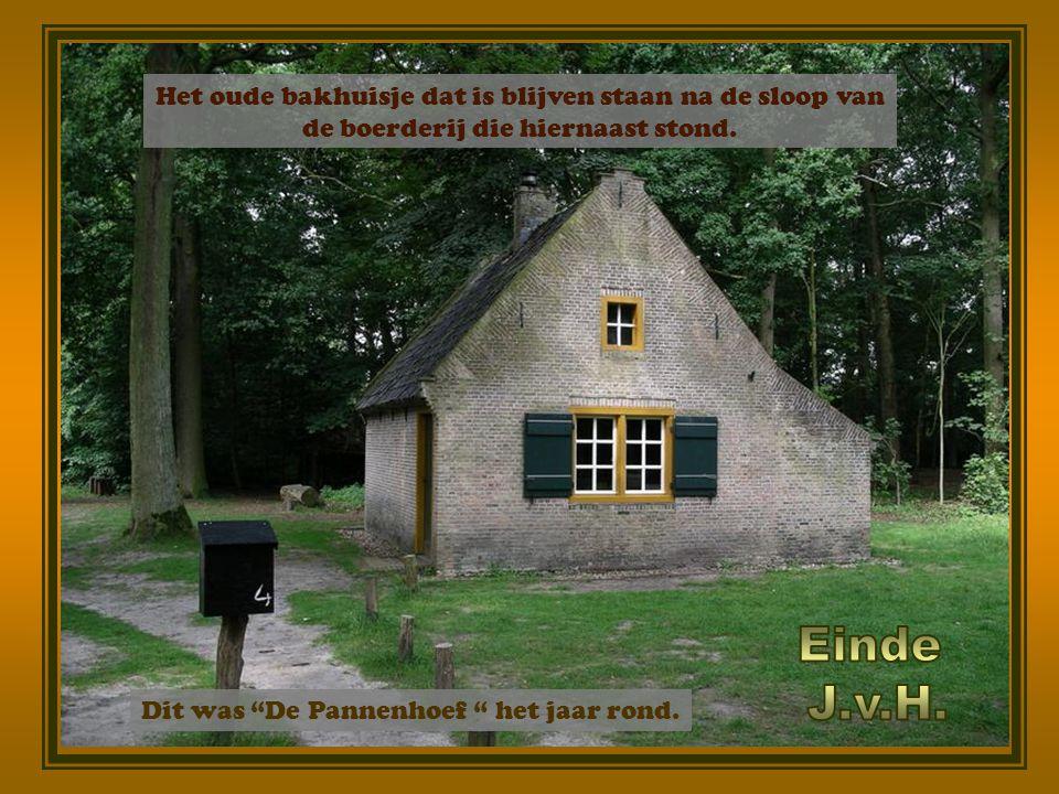 Einde J.v.H. Het oude bakhuisje dat is blijven staan na de sloop van
