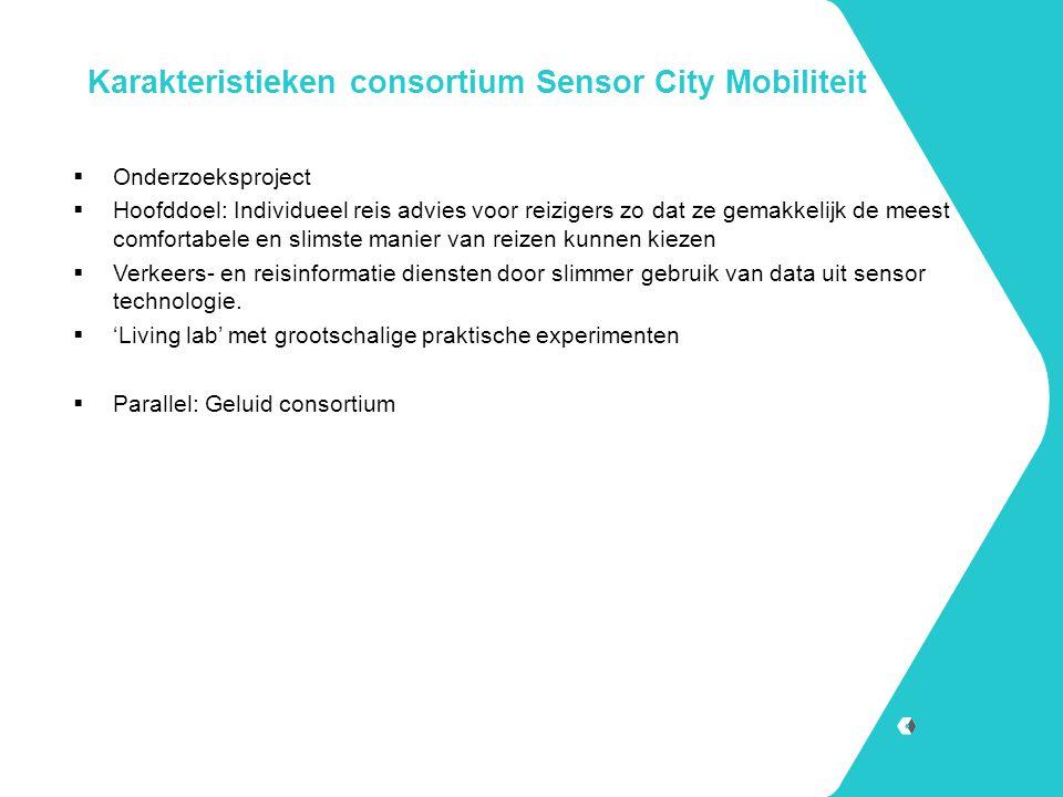 Karakteristieken consortium Sensor City Mobiliteit