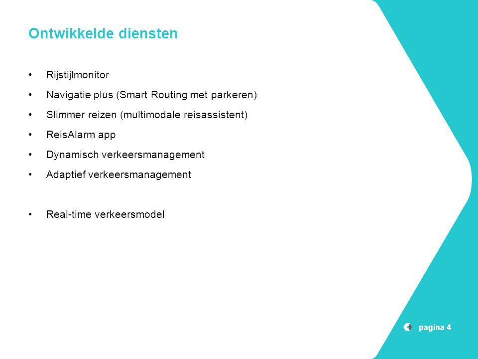 Ontwikkelde diensten Rijstijlmonitor