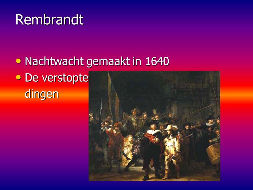 Rembrandt Nachtwacht gemaakt in 1640 De verstopte dingen