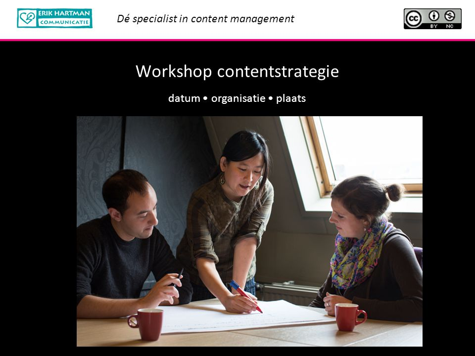 Workshop contentstrategie