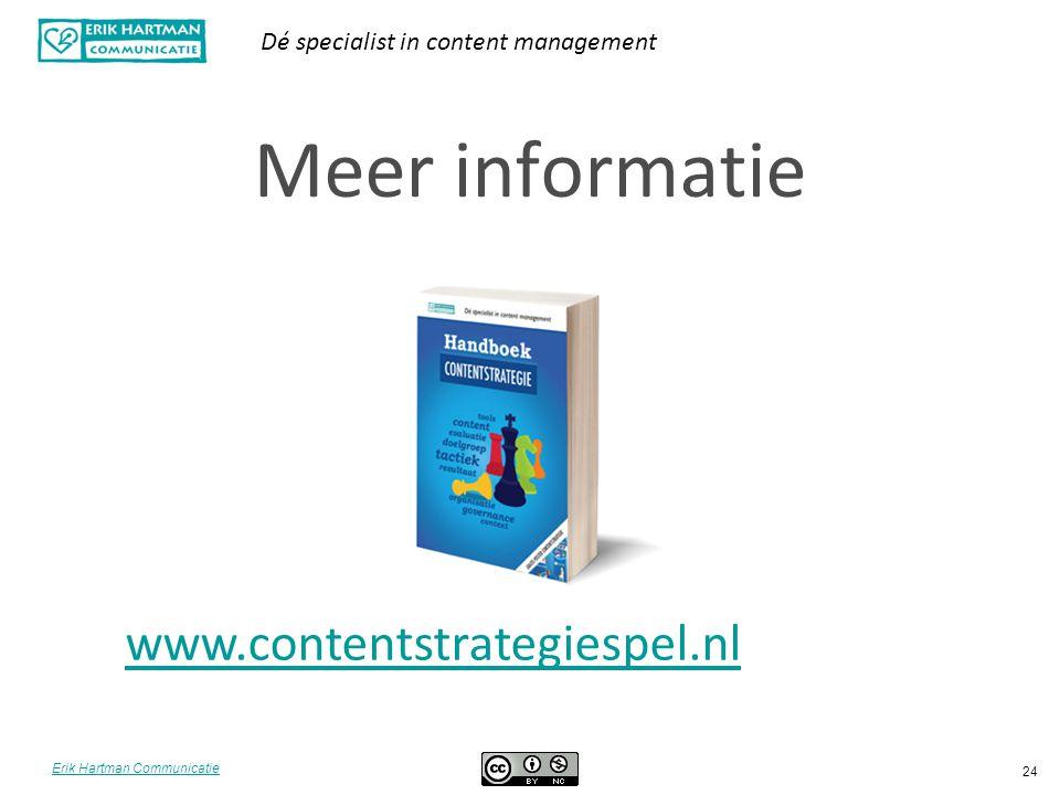 Meer informatie www.contentstrategiespel.nl