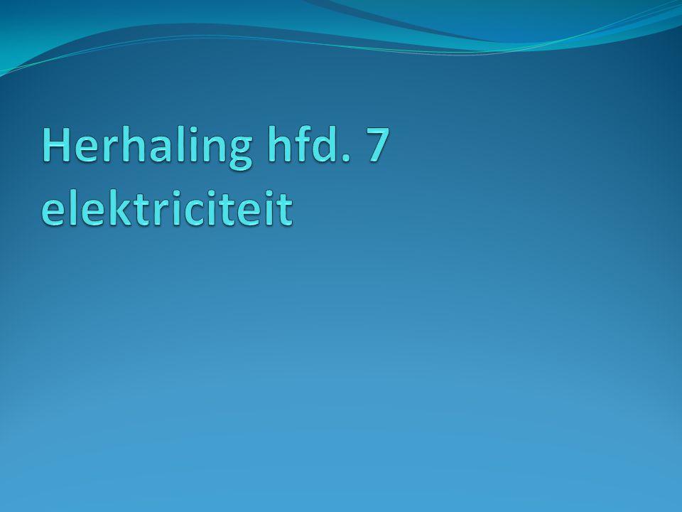 Herhaling hfd. 7 elektriciteit