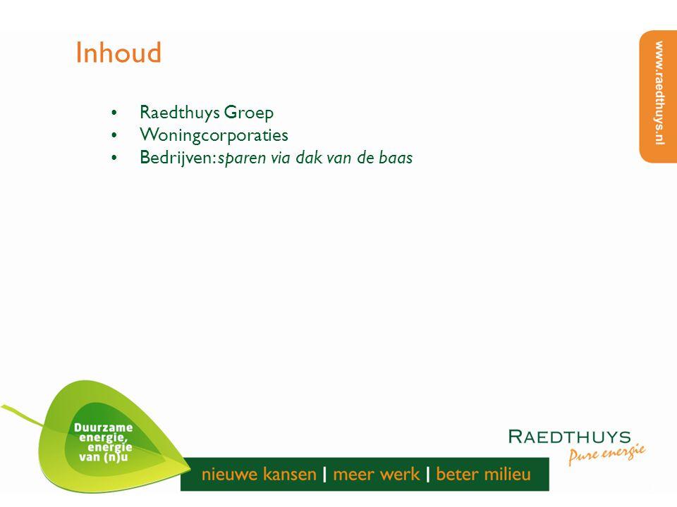 Inhoud Raedthuys Groep Woningcorporaties